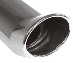 Fox Anschweißendrohr Typ 43 115x85 mm / Länge: 300 mm - oval / eingerollt / FOX-Design / mit Absorb