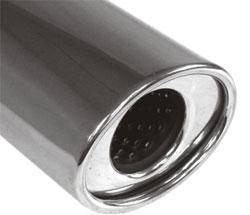 Fox Anschweißendrohr Typ 37 115x85 mm / Länge: 300 mm - oval / eingerollt / gerade / mit Absorber