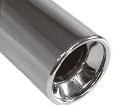 Fox Anschweißendrohr Typ 13 Ø 80 mm / Länge: 300 mm - rund / eingerollt / gerade / mit Absorber