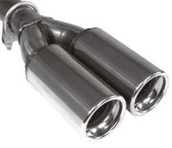 Fox Anschraubendrohr Typ 91 2x Ø 70 mm / Anschluss: 50mm / Länge: 300 mm - rund / eingerollt / gera