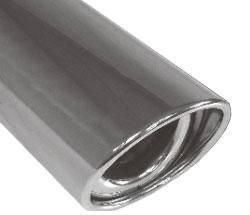 Fox Anschweißendrohr Typ 33 115x85 mm / Länge: 300 mm - oval / eingerollt / 15° abgeschrägt / mit A
