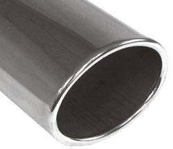 Fox Anschweißendrohr Typ 36 115x85 mm / Länge: 300 mm - oval / eingerollt / gerade / ohne Absorber