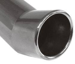 Fox Anschweißendrohr Typ 21 Ø 70 mm / Länge: 300 mm - rund / eingerollt / FOX-Design / mit Absorber