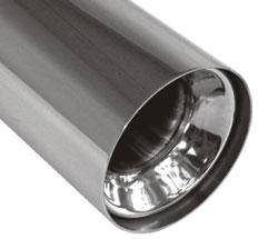 Fox Anschweißendrohr Typ 11 Ø 76 mm / Länge: 400 mm - rund / uneingerollt / gerade / mit Absorber