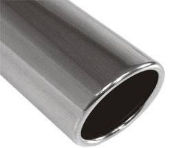 Fox Anschweißendrohr Typ 16 Ø 70 mm / Länge: 300 mm - rund / eingerollt / 15° abgeschrägt / ohne Abs