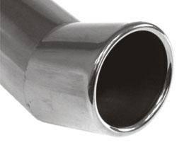 Fox Anschweißendrohr Typ 20 Ø 80 mm / Länge: 300 mm - rund / eingerollt / FOX-Design / ohne Absorber