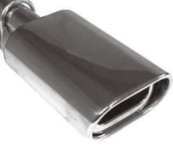 Fox Anschraubendrohr Typ 94 135x80 mm / Anschluss: 60mm / Länge: 300mm - oval / eingerollt / 15° ab