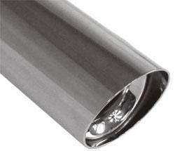 Fox Anschweißendrohr Typ 15 Ø 90 mm / Länge: 300 mm - rund / uneingerollt / 15° abgeschrägt / mit Ab