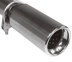 Fox Anschraubendrohr Typ 90 Ø 76 mm / Anschluss: 50mm / Länge: 170 mm - rund / eingerollt / gerade
