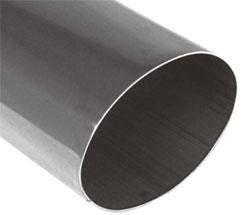 Fox Anschweißendrohr Typ 34 115x85 mm / Länge: 300 mm - oval / uneingerollt / gerade / ohne Absorber