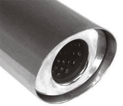 Fox Anschweißendrohr Typ 35 115x85 mm / Länge: 300 mm - oval / uneingerollt / gerade / mit Absorber