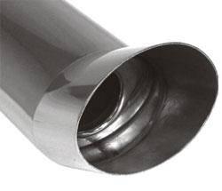 Fox Anschweißendrohr Typ 41 115x85 mm / Länge: 300 mm - oval / uneingerollt / FOX-Design / mit Absor