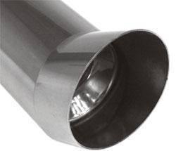 Fox Anschweißendrohr Typ 19 Ø 76 mm / Länge: 300 mm - rund / uneingerollt / FOX-Design / mit Absorbe