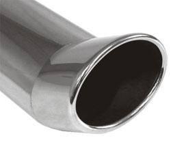 Fox Anschweißendrohr Typ 42 115x85 mm / Länge: 300 mm - oval / eingerollt / FOX-Design / ohne Absorb
